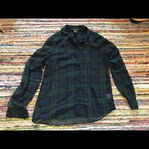 Lord and Taylor plaid blouse